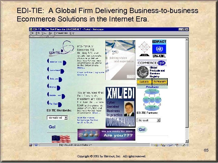 EDI-TIE: A Global Firm Delivering Business-to-business Ecommerce Solutions in the Internet Era. 65 Copyright