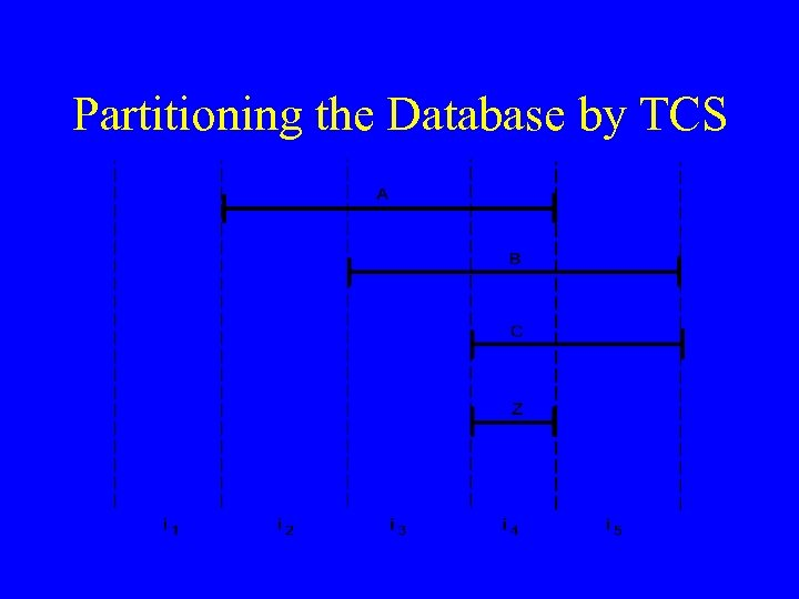 Partitioning the Database by TCS