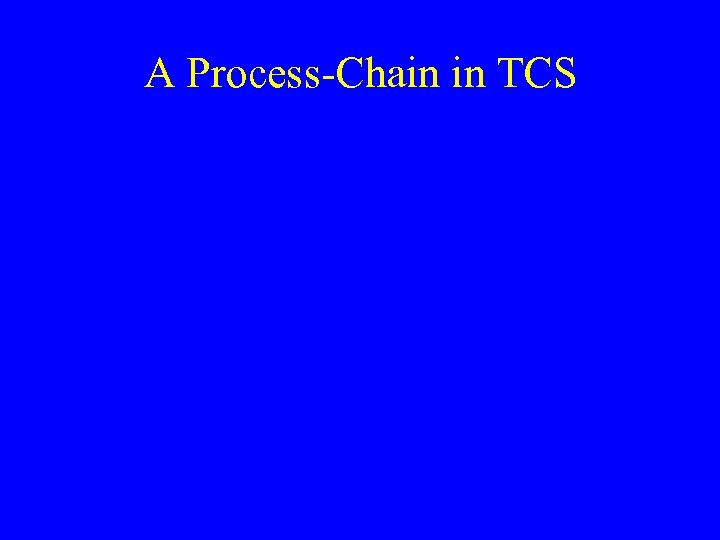 A Process-Chain in TCS
