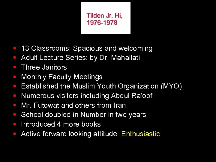 § § § § § 13 Classrooms: Spacious and welcoming Adult Lecture Series: by