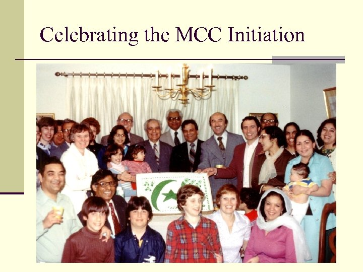 Celebrating the MCC Initiation