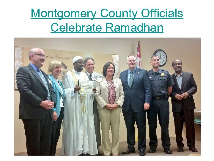 Montgomery County Officials Celebrate Ramadhan