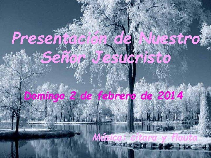Presentación de Nuestro Señor Jesucristo Domingo 2 de febrero de 2014 Música: cítara y