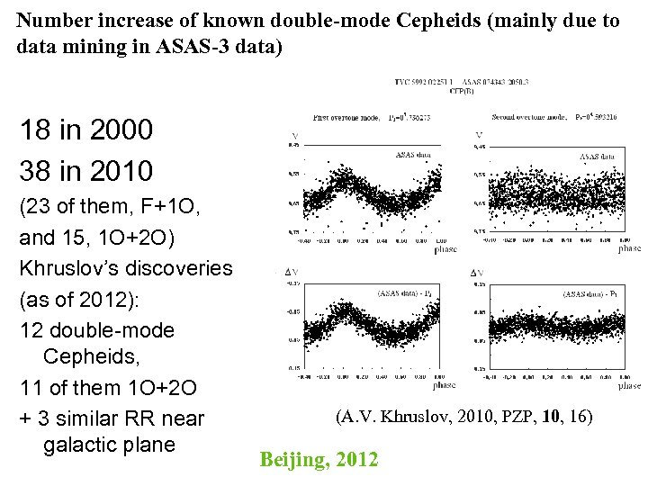 Number increase of known double-mode Cepheids (mainly due to data mining in ASAS-3 data)