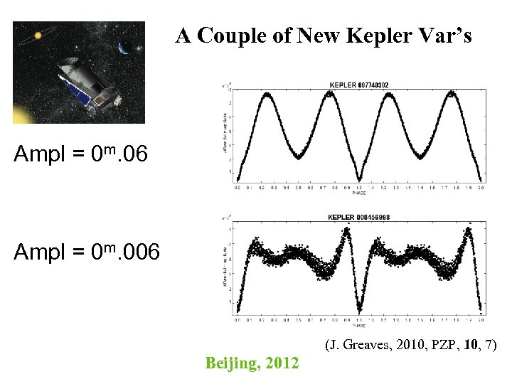 A Couple of New Kepler Var's Ampl = 0 m. 06 Ampl = 0