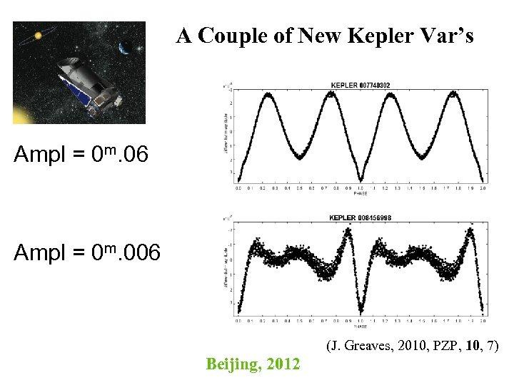 A Couple of New Kepler Var's Ampl = 0 m. 06 Ampl = 0