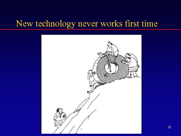 New technology never works first time 20