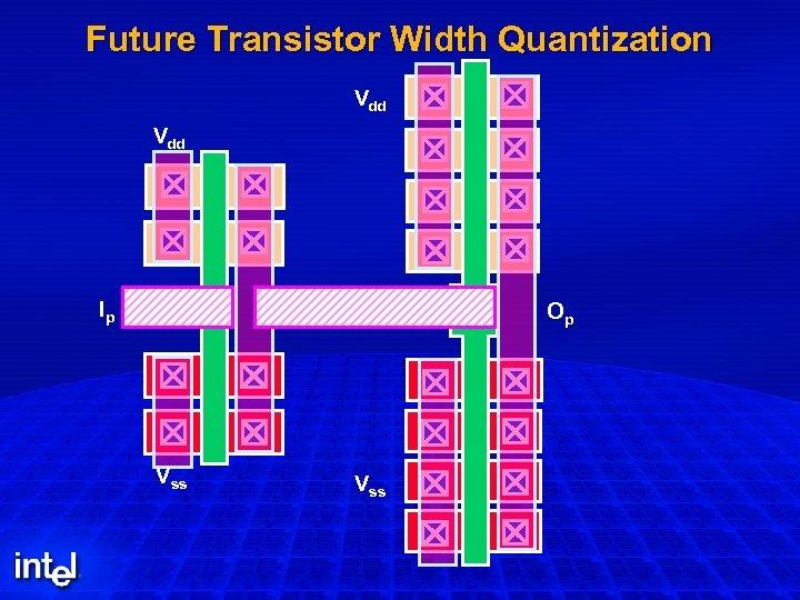 Future Transistor Width Quantization Vdd Op Ip Vss Op Vss