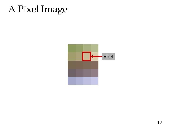 A Pixel Image pixel 18