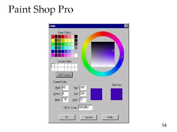 Paint Shop Pro 54