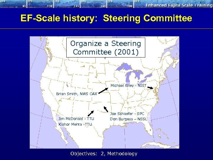 EF-Scale history: Steering Committee Organize a Steering Committee (2001) Michael Riley - NIST Brian