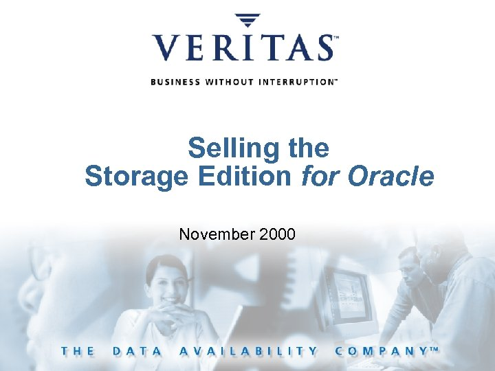 Selling the Storage Edition for Oracle November 2000