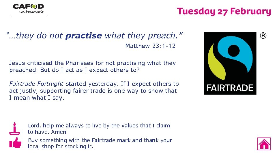 """""""…they do not practise what they preach. """" Matthew 23: 1 -12 Jesus criticised"""
