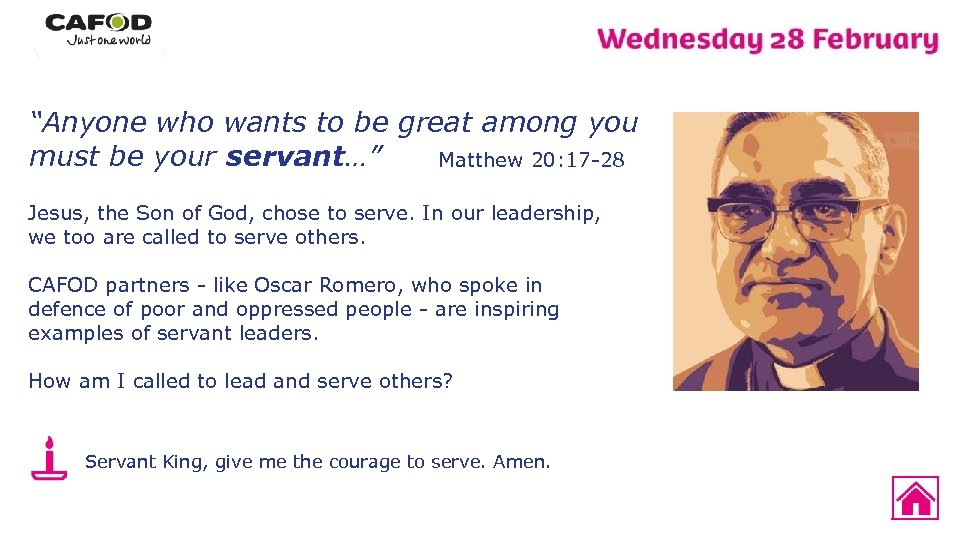 """""""Anyone who wants to be great among you must be your servant…"""" Matthew 20:"""