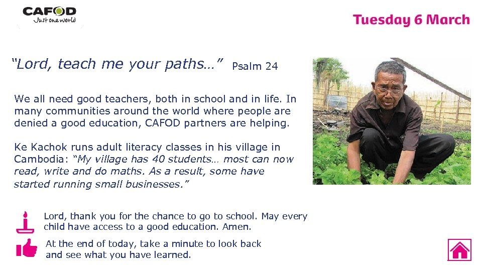 """""""Lord, teach me your paths…"""" Psalm 24 We all need good teachers, both in"""