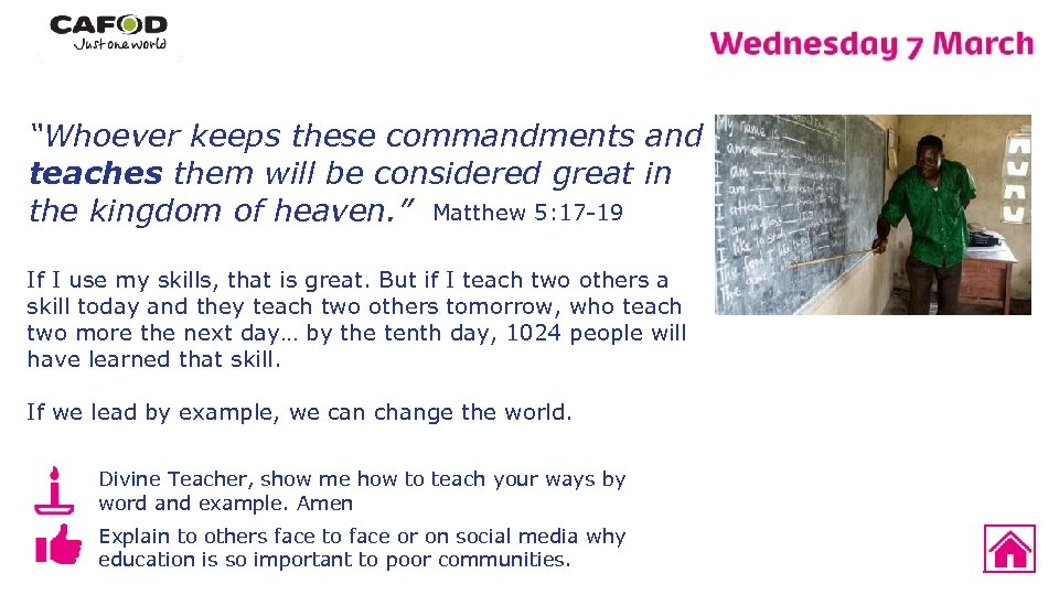 """""""Whoever keeps these commandments and teaches them will be considered great in the kingdom"""
