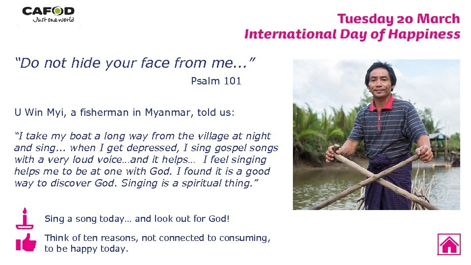 """""""Do not hide your face from me. . . """" Psalm 101 U Win"""