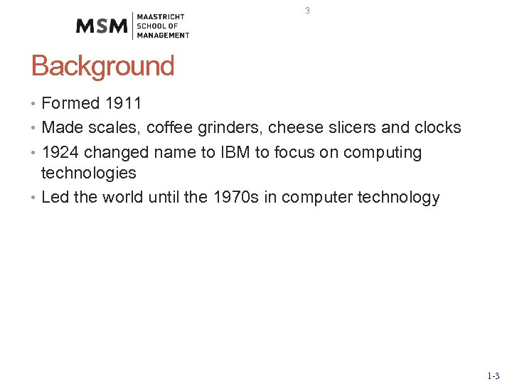 3 Background • Formed 1911 • Made scales, coffee grinders, cheese slicers and clocks
