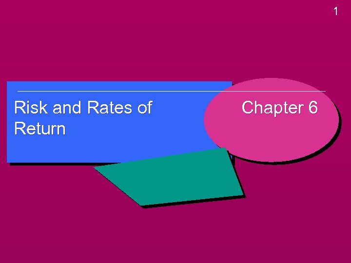 1 Risk and Rates of Return Chapter 6
