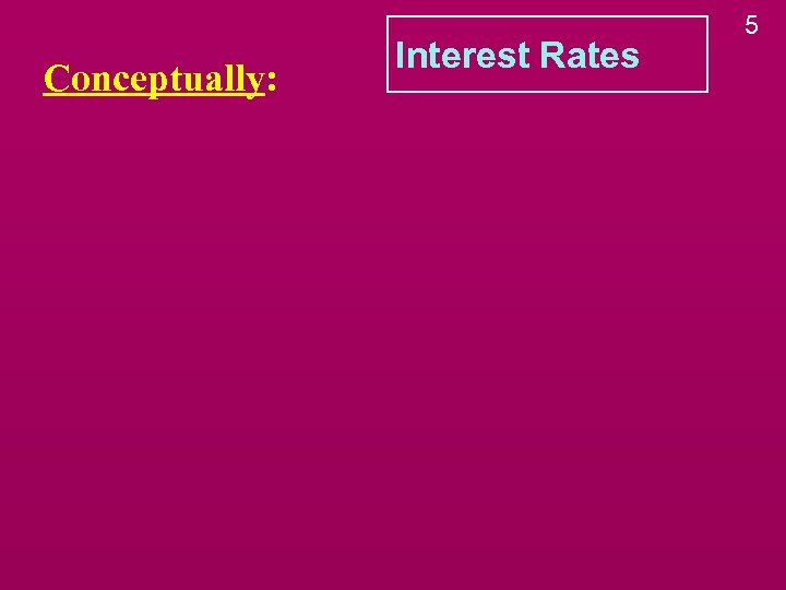 Conceptually: Interest Rates 5