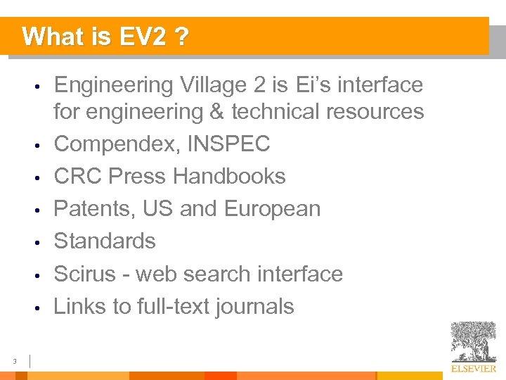 Elsevier Engineering Information Engineering Village 2