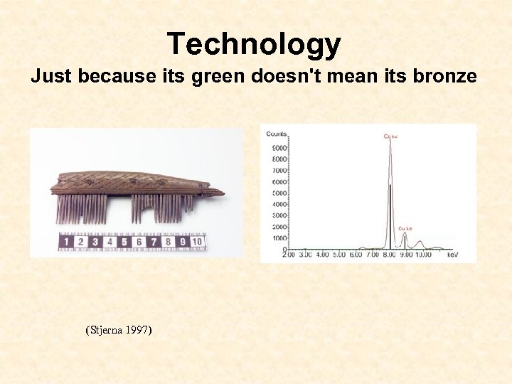 Technology Just because its green doesn't mean its bronze (Stjerna 1997)