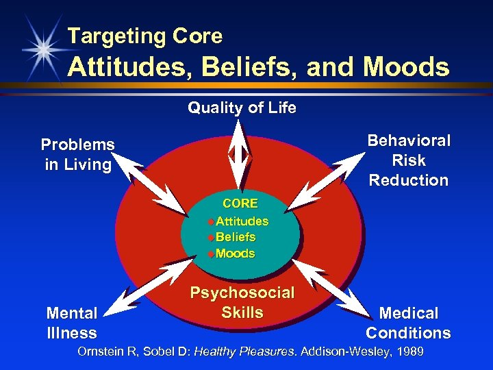 Targeting Core Attitudes, Beliefs, and Moods Quality of Life Behavioral Risk Reduction Problems in