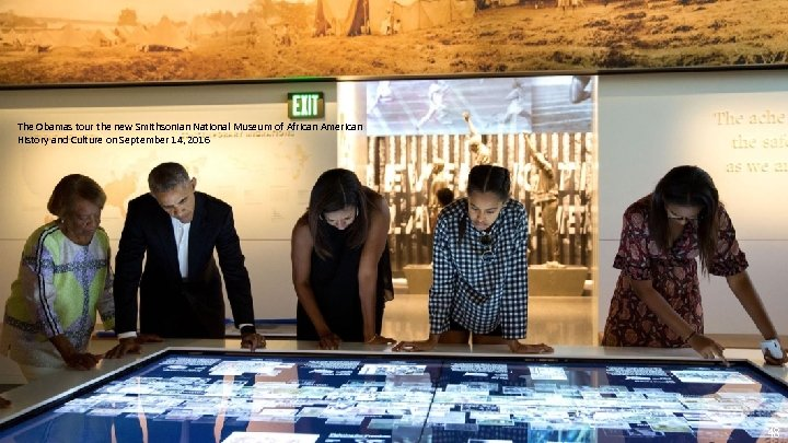 The Obamas tour the new Smithsonian National Museum of African American History and Culture