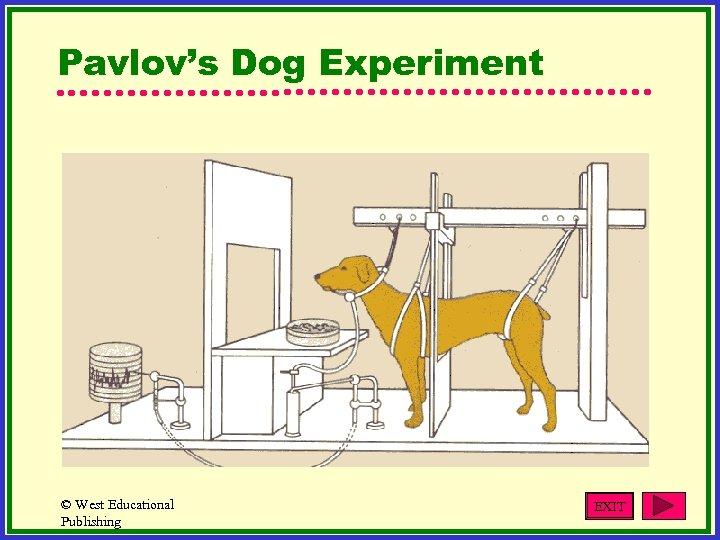 Pavlov's Dog Experiment © West Educational Publishing EXIT