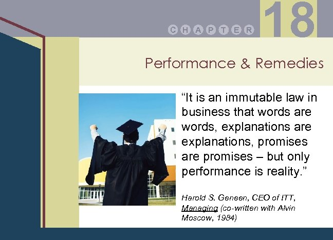 """C H A P T E R 18 Performance & Remedies """"It is an"""