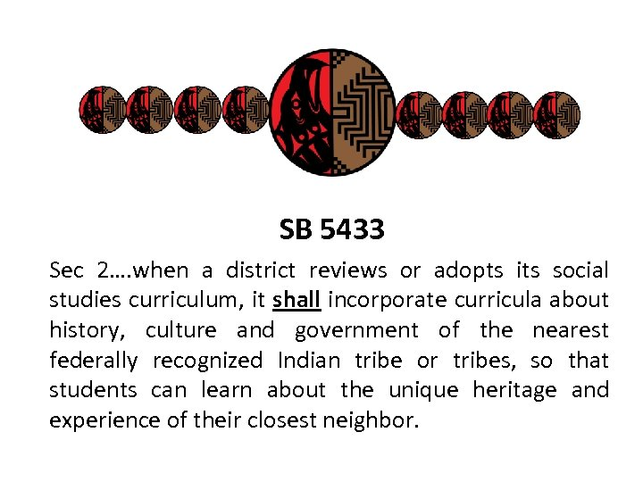 SB 5433 Sec 2…. when a district reviews or adopts its social studies curriculum,