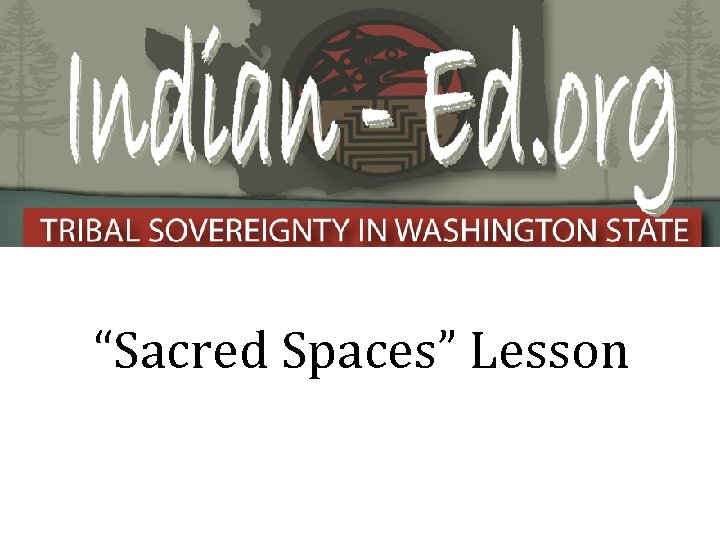 """Sacred Spaces"" Lesson"