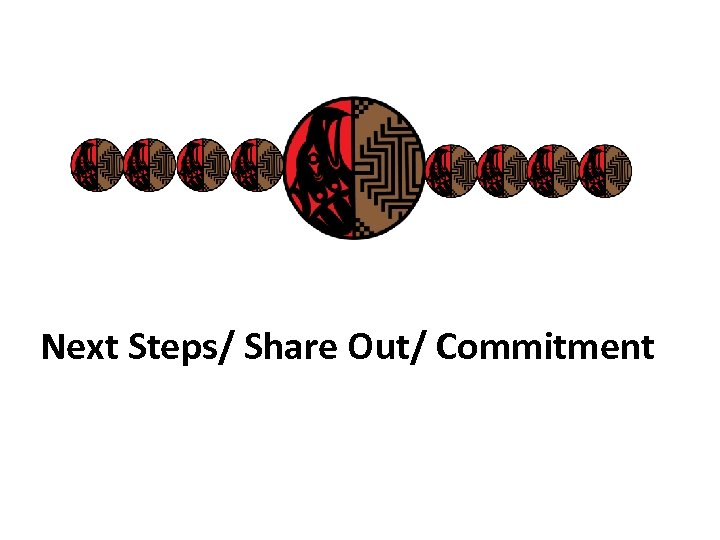Next Steps/ Share Out/ Commitment