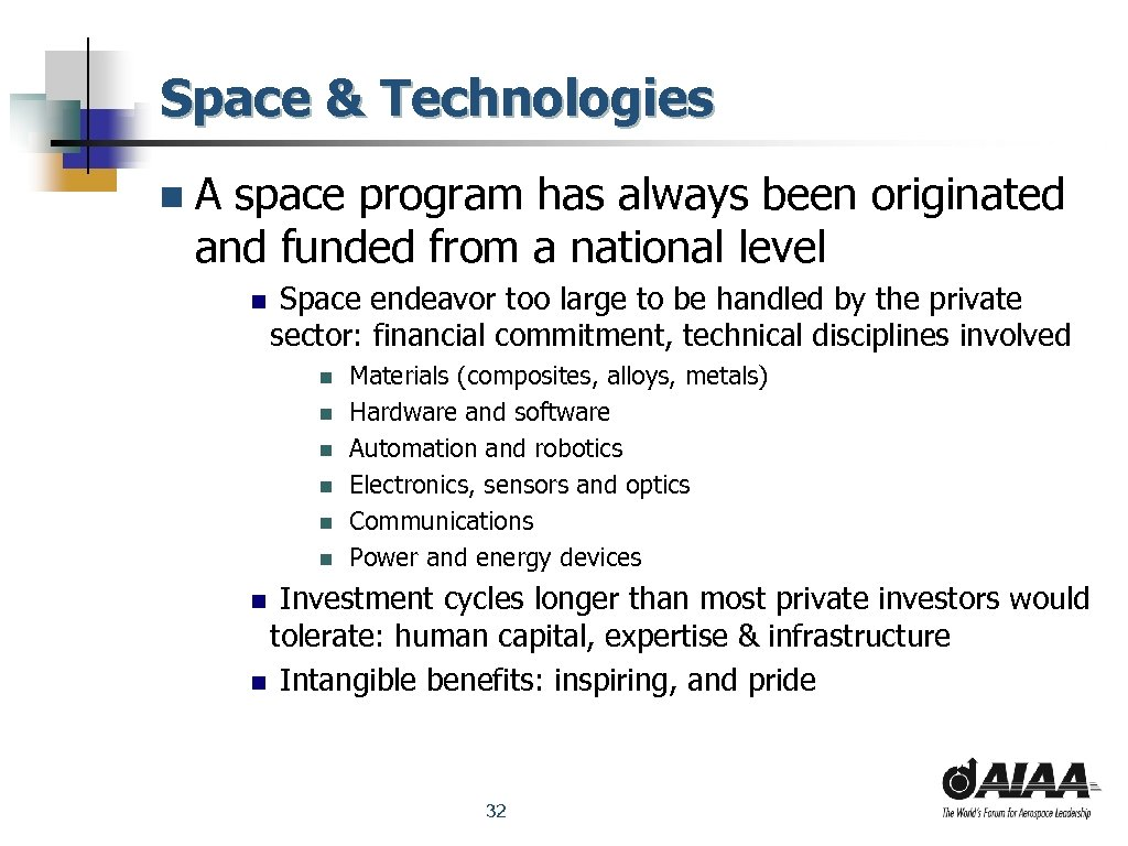 Space & Technologies n. A space program has always been originated and funded from