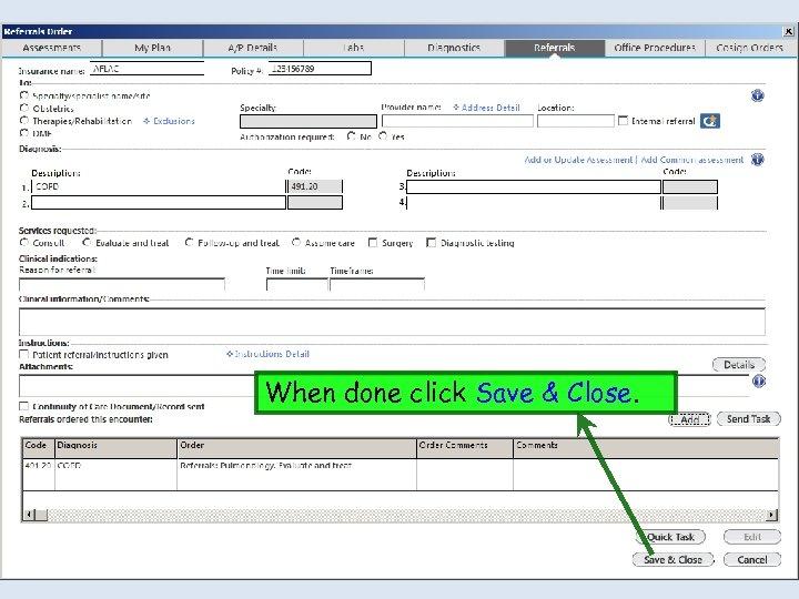 When done click Save & Close.