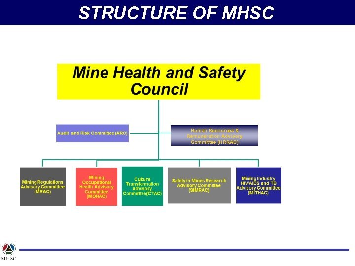 STRUCTURE OF MHSC Human Resources & Remuneration Advisory Committee (HRRAC)