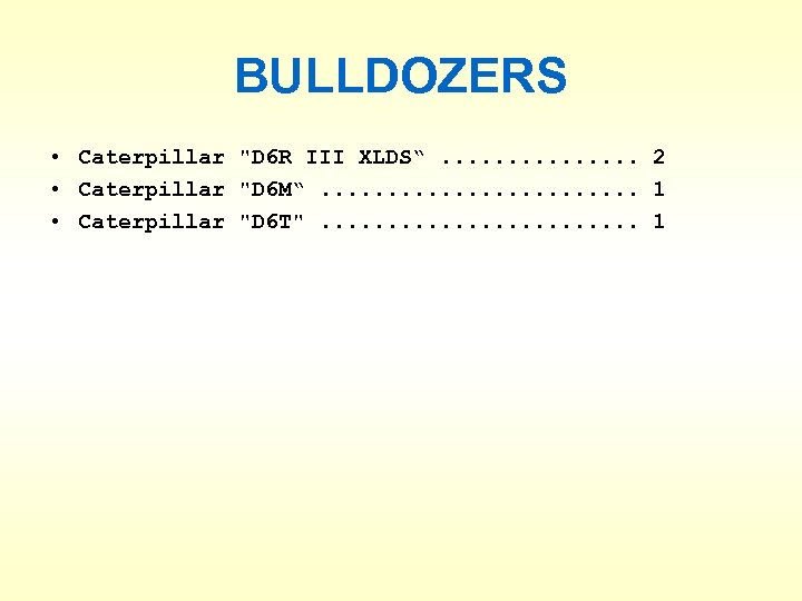 BULLDOZERS • Caterpillar