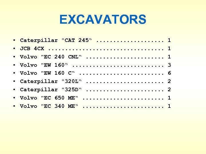 EXCAVATORS • • • Caterpillar