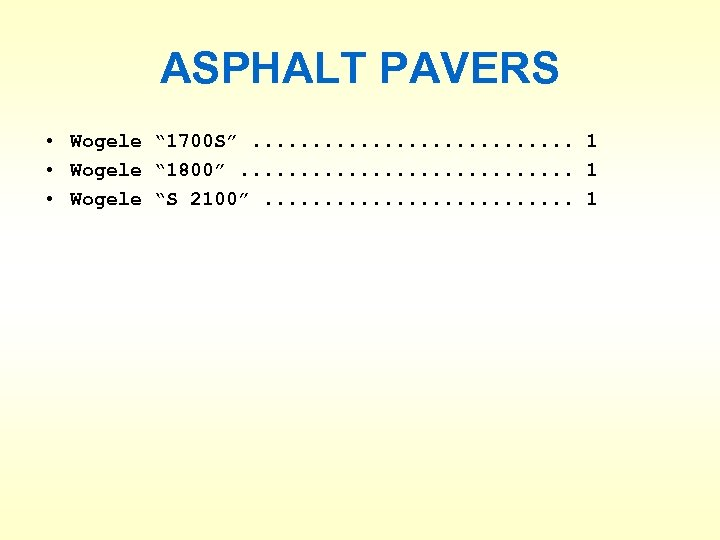 "ASPHALT PAVERS • Wogele "" 1700 S"". . . . 1 • Wogele """