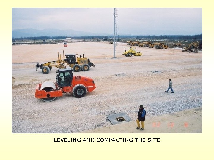 LEVELING AND COMPACTING THE SITE