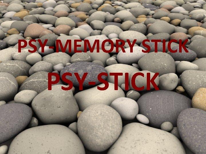 PSY-MEMORY STICK PSY-STICK