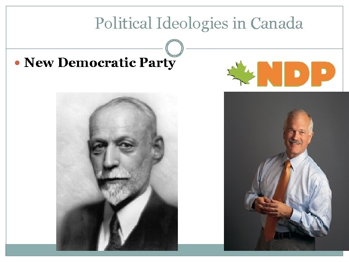 Political Ideologies in Canada New Democratic Party