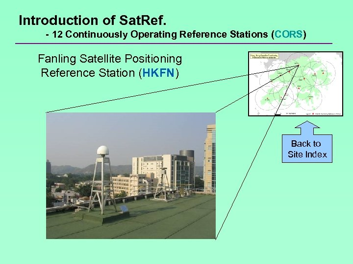 Introduction of Sat. Ref. - 12 Continuously Operating Reference Stations (CORS) Fanling Satellite Positioning