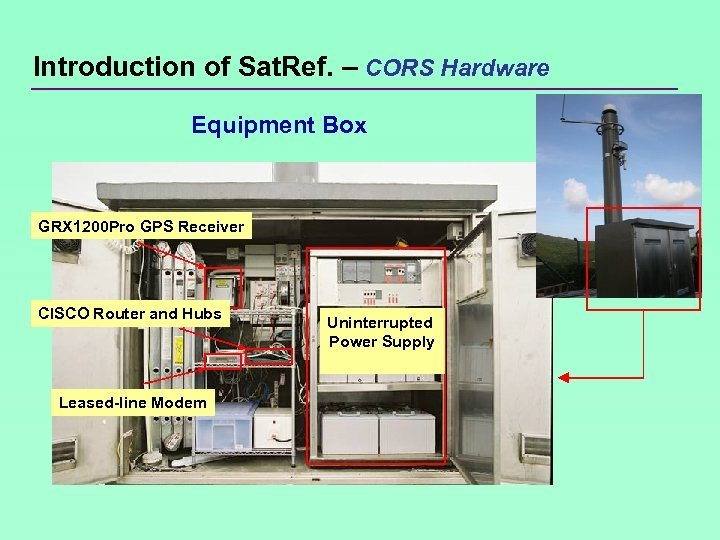 Introduction of Sat. Ref. – CORS Hardware Equipment Box GRX 1200 Pro GPS Receiver