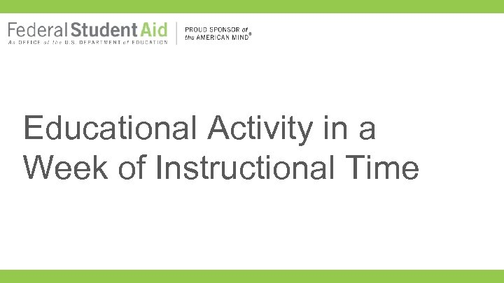 Educational Activity in a Week of Instructional Time