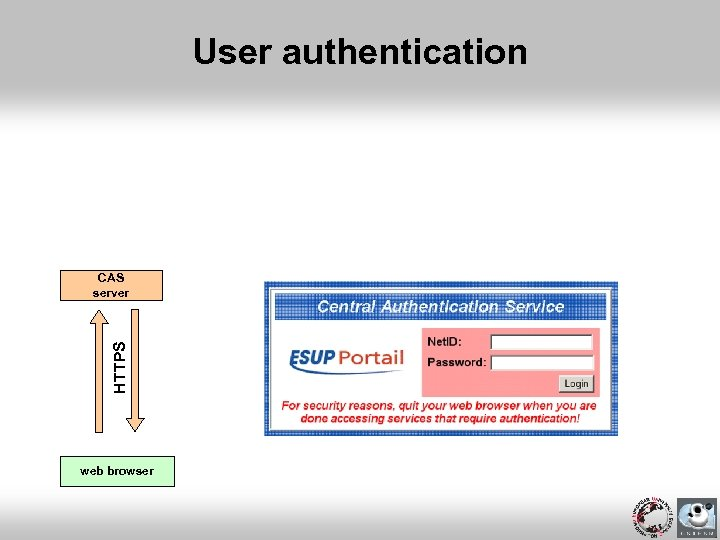 User authentication HTTPS CAS server web browser