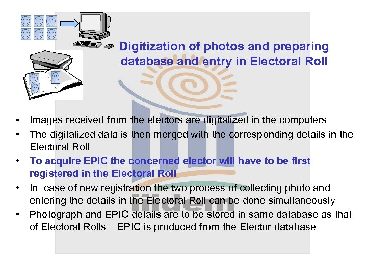 Digitization of photos and preparing database and entry in Electoral Roll • Images received