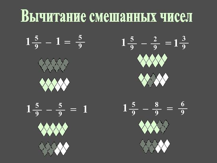 1 5 9 – 1= – 5 9 = 1 1 5 9 –