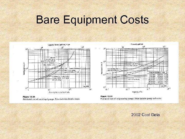Bare Equipment Costs 2002 Cost Data