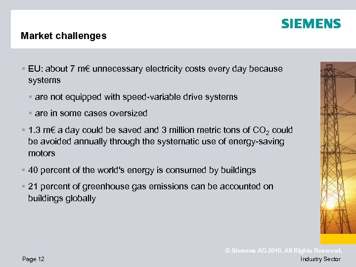 Market challenges § EU: about 7 m€ unnecessary electricity costs every day because systems
